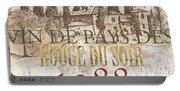 Bordeaux Blanc Label 1 Portable Battery Charger