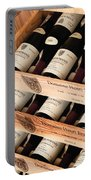 Bottles Of Vosne-romanee Premier Cru Cros Parantoux Portable Battery Charger by Anonymous