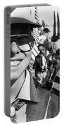 Boy Scout Veteran's Day Parade Tucson Arizona 1990 Black And White Portable Battery Charger