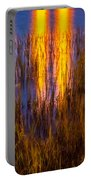 Bridge Of Lions Reflections St Augustine Florida Painted    Portable Battery Charger