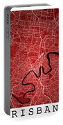 Brisbane Street Map - Brisbane Australia Road Map Art On Colored Portable Battery Charger