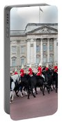 British Royal Guards Perform The Changing Of The Guard In Buckingham Palace Portable Battery Charger