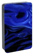 Brush Strokes In Blue Portable Battery Charger