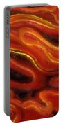 Brush Strokes In Red Portable Battery Charger