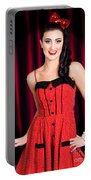 Cabaret Show Girl Performer In The Stage Spotlight Portable Battery Charger
