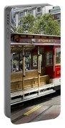Cable Car On Turntable San Francisco Portable Battery Charger
