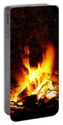 Campfire As A Symbol Of Warmth And Life On Black Portable Battery Charger