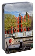 Canal In The City Of Amsterdam Portable Battery Charger