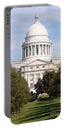 Capitol Building In Little Rock Portable Battery Charger