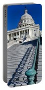 Capitol Hill Building In Washington Dc Portable Battery Charger