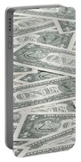 Carpet Of One Dollar Bills Portable Battery Charger