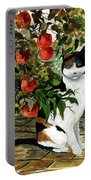 Cat On The Patio Portable Battery Charger