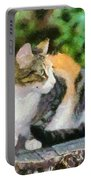Cat On Tree Trunk Portable Battery Charger