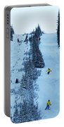 Cat Skiing At Fortress Mountain Portable Battery Charger