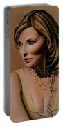 Cate Blanchett Painting  Portable Battery Charger