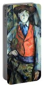 Cezanne's Boy In Red Waistcoat Portable Battery Charger