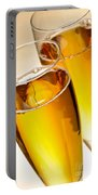 Champagne In Glasses Portable Battery Charger
