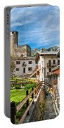 Chatelard Village With Castle Portable Battery Charger