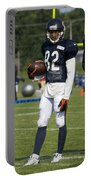 Chicago Bears Wr Chris Williams Training Camp 2014 01b Bw Portable Battery Charger