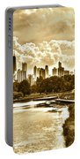Chicago In Sepia Portable Battery Charger