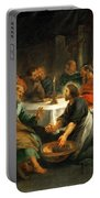 Christ Washing The Apostles' Feet Portable Battery Charger