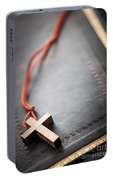 Christian Cross On Bible Portable Battery Charger