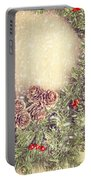 Christmas Garland Portable Battery Charger by Amanda Elwell