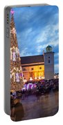 Christmas Time In Warsaw Portable Battery Charger