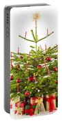 Christmas Tree Decorated With Presents Portable Battery Charger