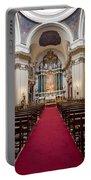 Church Of Santa Barbara Interior In Madrid Portable Battery Charger