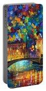City Bridge Portable Battery Charger by Leonid Afremov