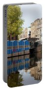 City Of Amsterdam Cityscape Portable Battery Charger