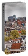City Of Amsterdam From Above Portable Battery Charger