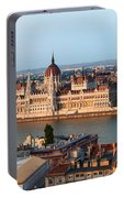 City Of Budapest Cityscape Portable Battery Charger