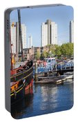 City Of Rotterdam Cityscape In Netherlands Portable Battery Charger