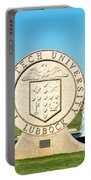 Classical Image Of The Texas Tech University Seal  Portable Battery Charger