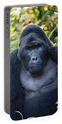 Close-up Of A Mountain Gorilla Gorilla Portable Battery Charger