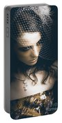 Close Up Portrait Of A Beautiful Vintage Bride Portable Battery Charger