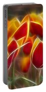 Cluisiana Tulips Fractal Portable Battery Charger