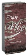 Coca Cola Pink Grunge Sign Portable Battery Charger