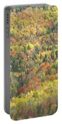 Colorful Autumn Forest In Mount Blue State Park Weld Maine Portable Battery Charger