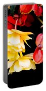 Colorful Flowers Portable Battery Charger by Tom Gowanlock