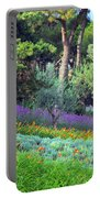 Colorful Park With Flowers Portable Battery Charger