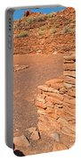 Community Room At Wupatki Pueblo In Wupatki National Monument Portable Battery Charger