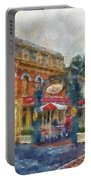 Corner Cafe Main Street Disneyland Photo Art 02 Portable Battery Charger
