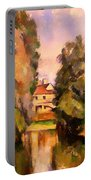 Country House By A River Portable Battery Charger