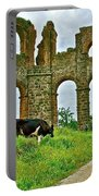 Cow By Second Century Aspendos Aqueduct-turkey Portable Battery Charger