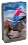 Cowgirl Rides Fast For Best Time Portable Battery Charger