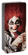 Crazy Medical Clown Holding Oversized Syringe Portable Battery Charger