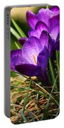 Crocus And Drops Portable Battery Charger